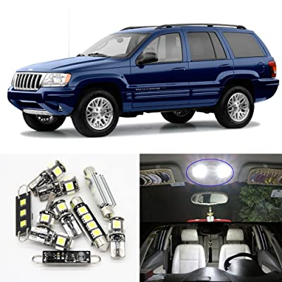 LED Interior Dome Roof Light - Led Jeep Light Kit For 1999-2004 Jeep Grand Cherokee accessories Map Dome Trunk License Light (1999-2004 Jeep Grand Cherokee) 11pcs/package: Automotive