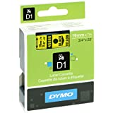 Dymo D1 Standard Self-Adhesive Labels for LabelManager Printers, 19 mm x 7 m - Black Print on Yellow