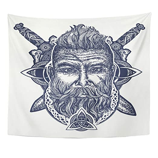 Soefipok Tapiz Mandala Decoración para el hogar Tatuaje Vikingo ...