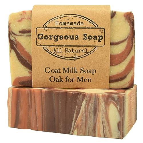 Amazon.com: Oak for Men Goat Milk Soap - All Natural Soap, Handmade Soap, Homemade Soap, Handcrafted Soap: Handmade