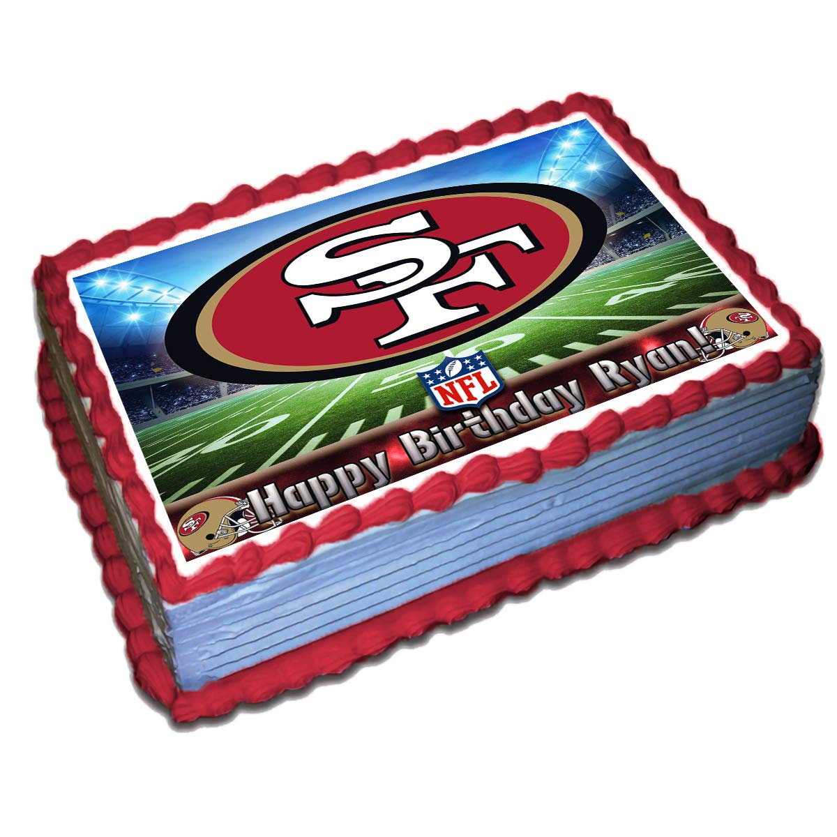 Fantastic San Francisco 49Ers Nfl Personalized Cake Topper Icing Sugar Paper Funny Birthday Cards Online Overcheapnameinfo