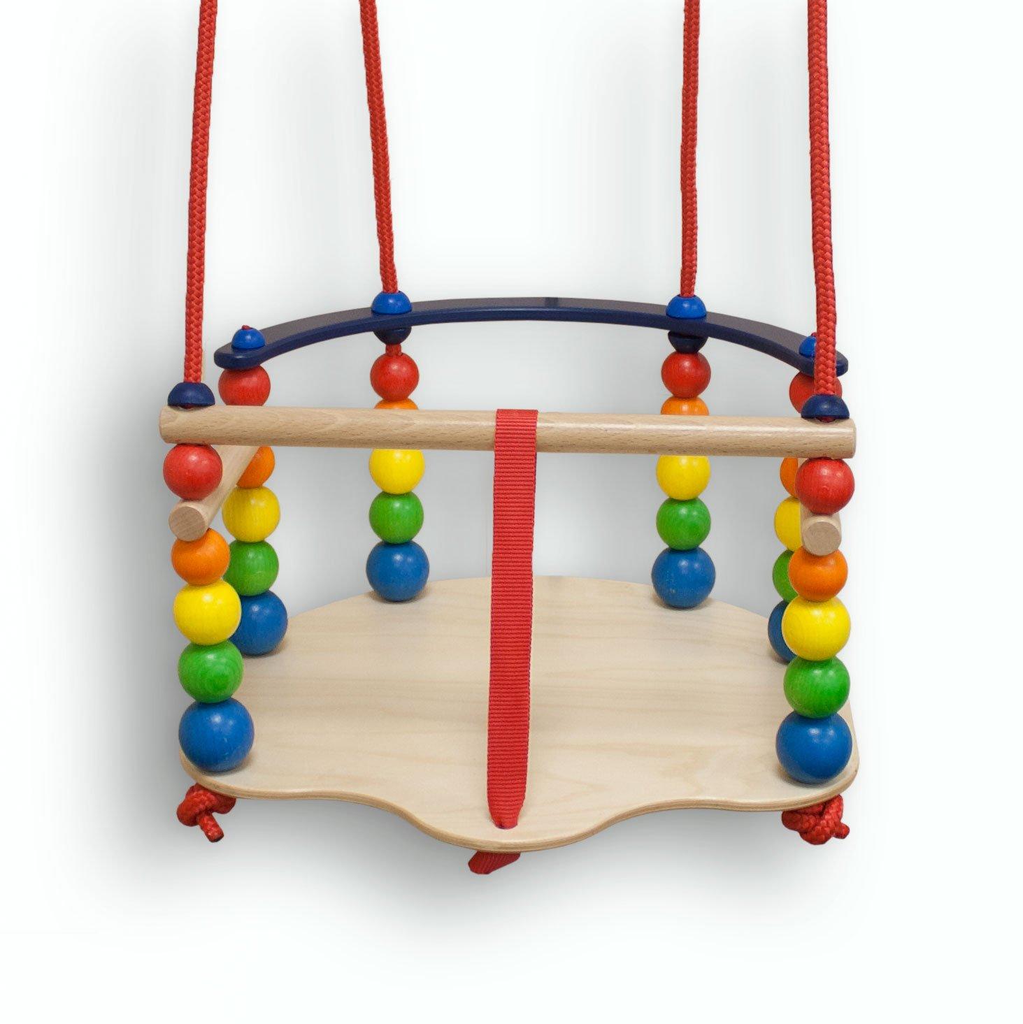 Hess Gitterschaukel de luxe - Kleinkinder Holzschaukel