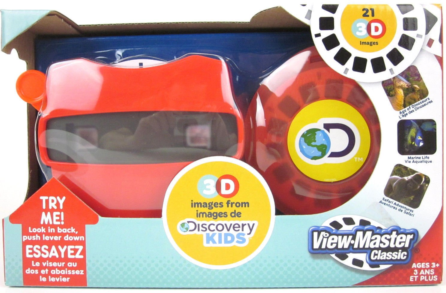 VIEW-MASTER DISCOVERY KIDS Dinosaurs Marine Safari Animals Viewer & 3D Reels Box For Ages 3+ by View Master
