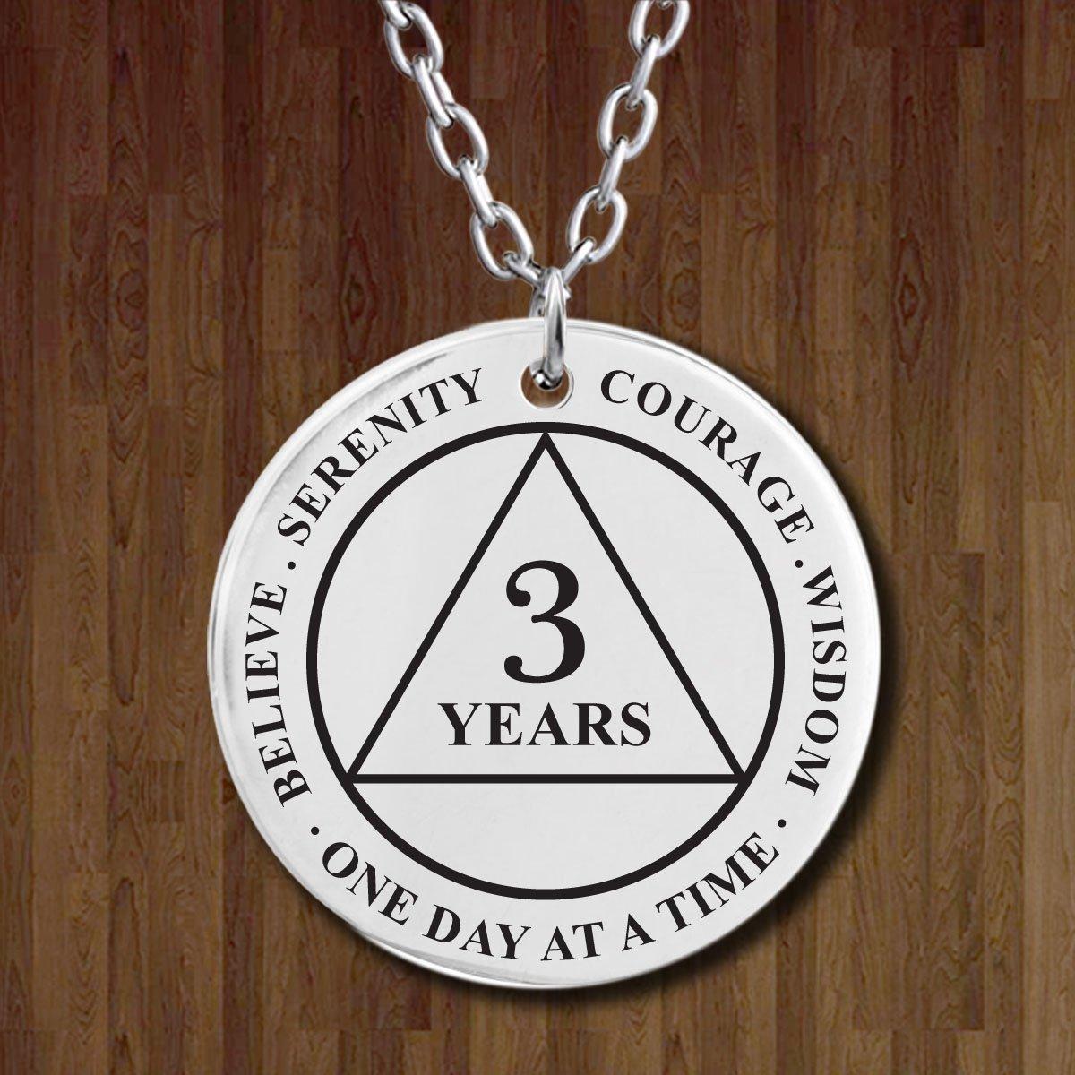 Amazon.com: 3 años Medallón Collar de recuperación – AA ...