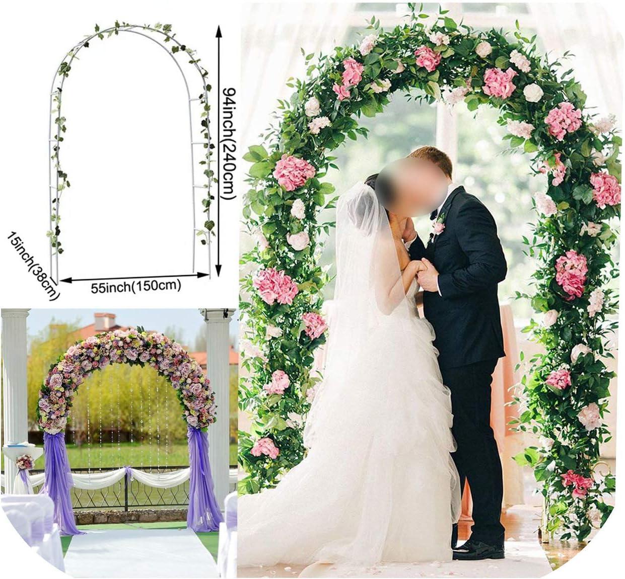 Fun--Store--eu Wedding Arch Arcos de Hierro para decoración de Bodas, pérgola de jardín, Soporte de Flores, Globo de Boda, Arco, decoración de Fiesta Blanca, Color: Amazon.es: Jardín
