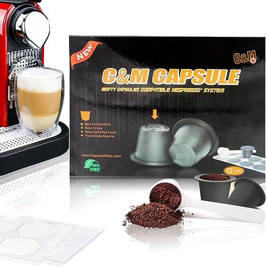 Cápsulas de café compatibles con Nespresso, tapas de cápsulas de ...