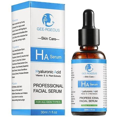 Sérum de ácido hialurónico para cara vitamina C insomnier 30 ml botella pura natural aditivo fuerte