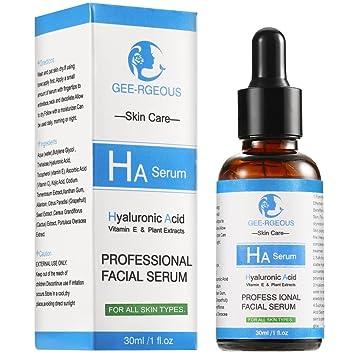 Sérum de ácido hialurónico para cara vitamina C insomnier 30 ml botella pura natural aditivo fuerte hidratante cerradura agua arrugas blanqueamiento suave ...