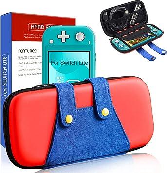 Funda para Switch Lite, [Color-Clash Look][Estuche Protección] Mario Funda de Viaje Portátil Transportar para Switch Lite y Accesorios-Rojo: Amazon.es: Electrónica