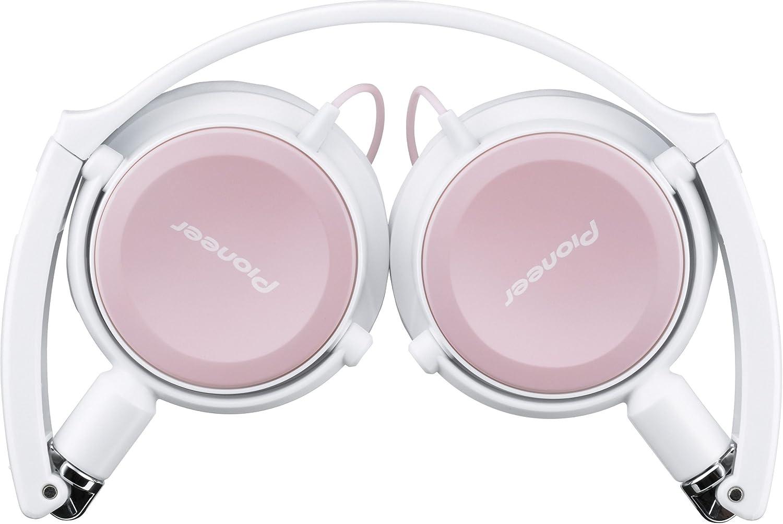 Pioneer SE-MJ511-HP - Auriculares de diadema abiertos, rosa y blanca: Amazon.es: Electrónica
