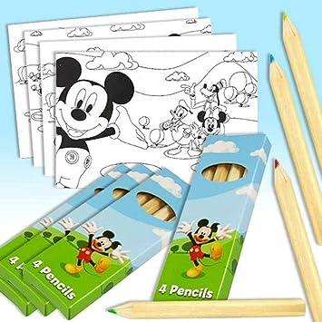 Partygrosshandel Malbilder Ausmalbilder Mickey Maus Tolles Set Mit 4