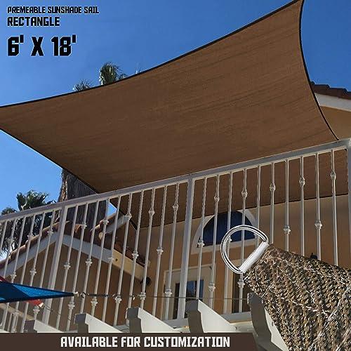 TANG Sunshades Depot 6' x 18' U-V Block Sun Shade Sail Perfect