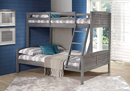 Amazon Com Donco Kids 2012tfag Louver Bunk Bed Twin Full Antique