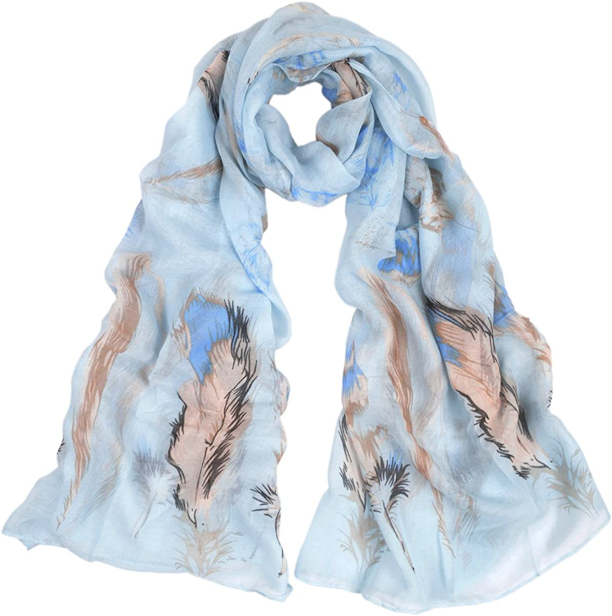 Light Feather Print Scarf...