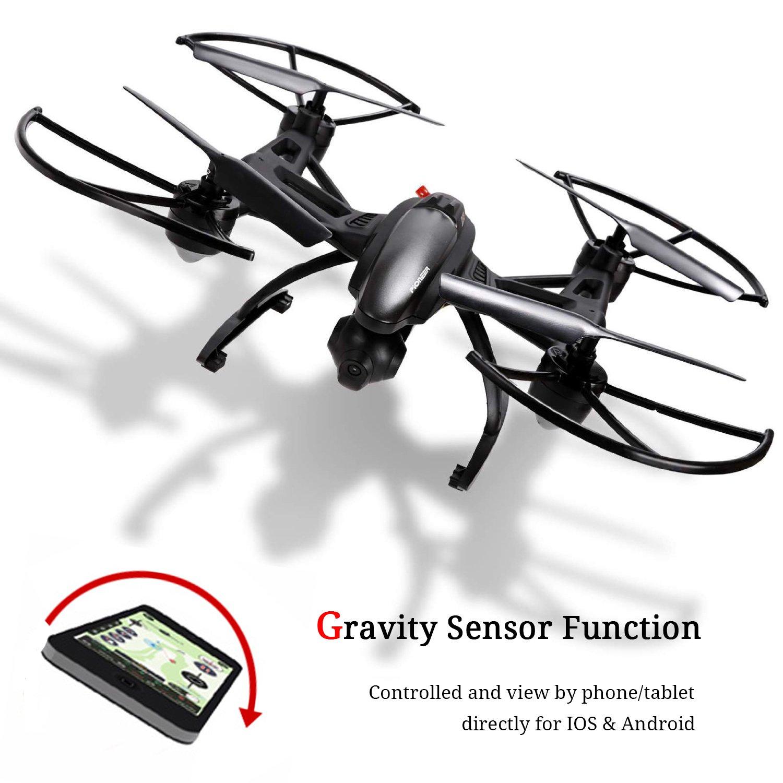 GoolRC 509 W Drone con cámara vídeo en directo WiFi FPV RC Quadcopter con App Control & Gravedad Sensor de movimiento función para Android/iOS, altitud Hold ...