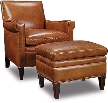 Sensational Amazon Com Hooker Furniture Jilian Leather Club Chair In Ncnpc Chair Design For Home Ncnpcorg