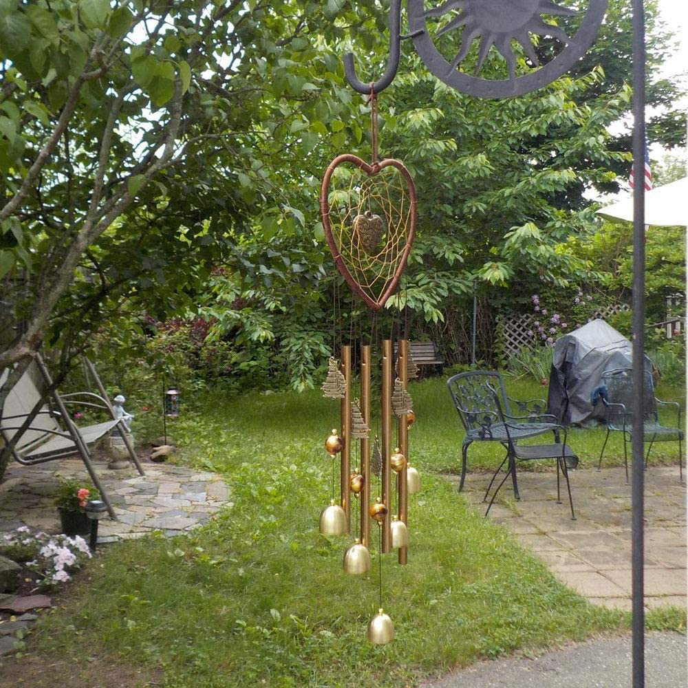 Zeudas Wind Chimes, Heart Design Metal Wind Chimes Outdoor Indoor Decor, Windchimes Unique for Outside Garden Patio Lawn Porch Backyard Decorations, Gift for Mom, Girlfriend