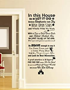 Best Design Amazing in This House We do Disney Wall Decal -Disney Wall Quotes-Wall Vinyl Decal-Wall Decor-Wall Art-Wall Words-Disney Saying-Wall Stickers Made in USA!