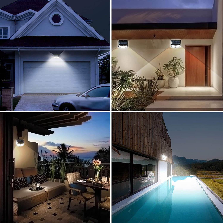 Garden/Wall/Lights Solar Powered Waterproof ViViSun 280 LED Solar Lights Outdoor/Garden Solar Security Lights Outdoor with 2 Motion Sensors 300/° Wide Angle 2600 mAh 2 Pack