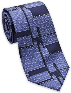product image for Josh Bach Men's Periodic Table/Science Silk Necktie Blue, Made in USA