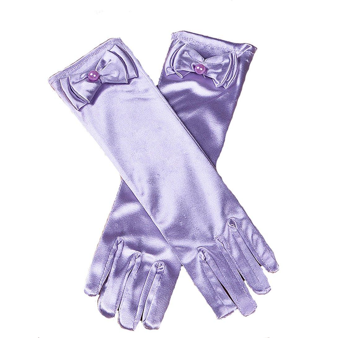 Cinda Guanti santa comunione La ragazza di fiore in 11 Colori 4-8 anni light blue gloves