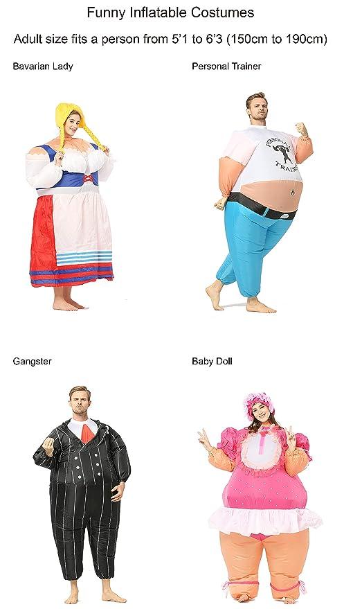 Amazon.com: Divertidos disfraces inflables vestido de ...