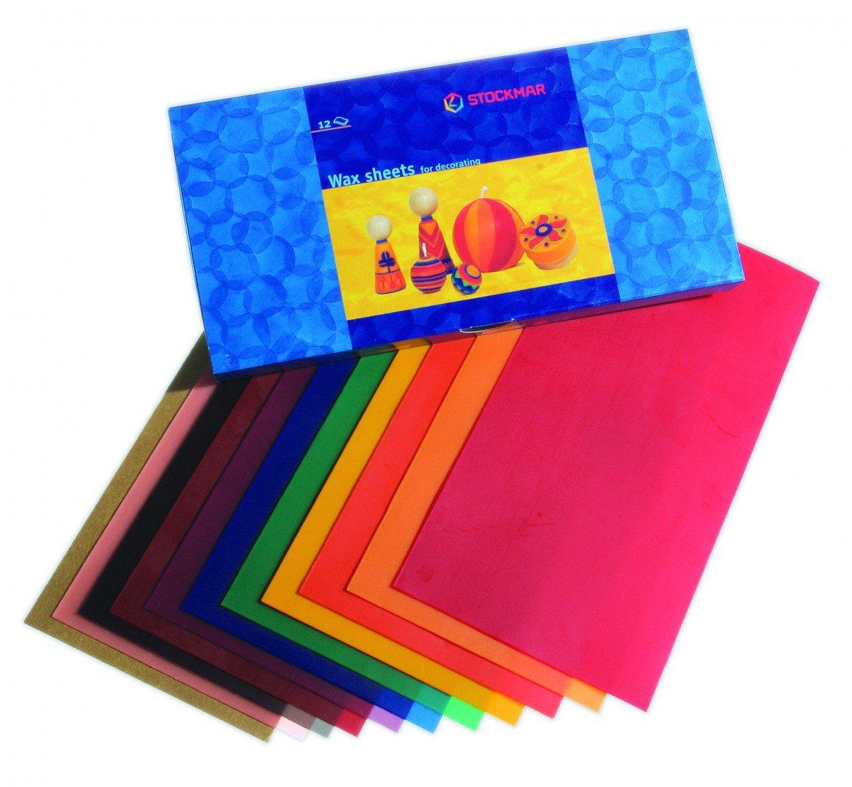 Fogli di cera 20x10 cm in 12 colori, Stockmar.