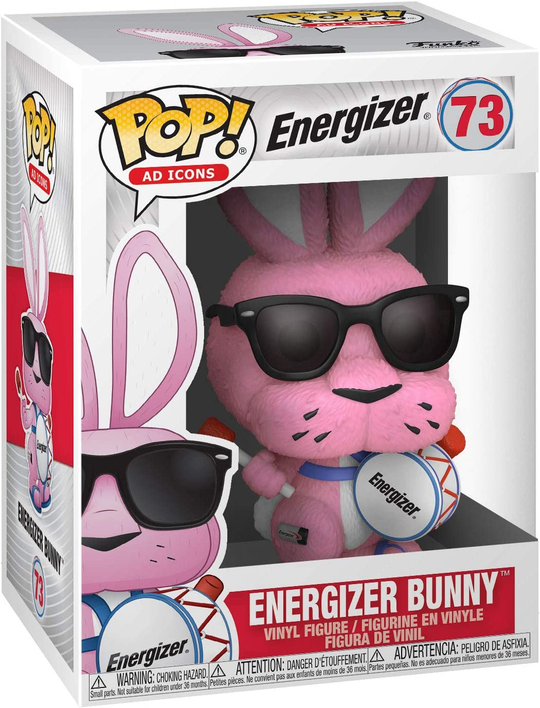 Energizer Bunny with Drum Ad ICON Vinyl POP Figure Toy #73 FUNKO NEW MIB