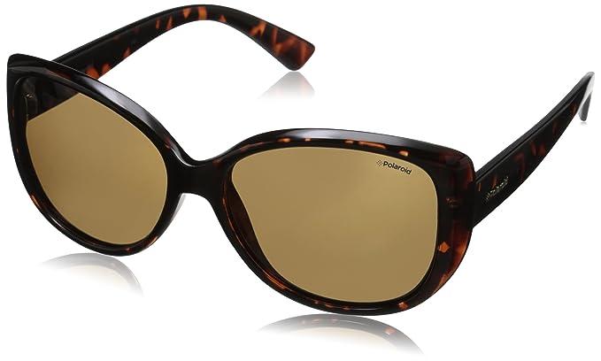 8e127059eb Polaroid Pld4031s - anteojos de sol polarizadas rectangulares para mujer,  Dark Havana & Brown Polarized