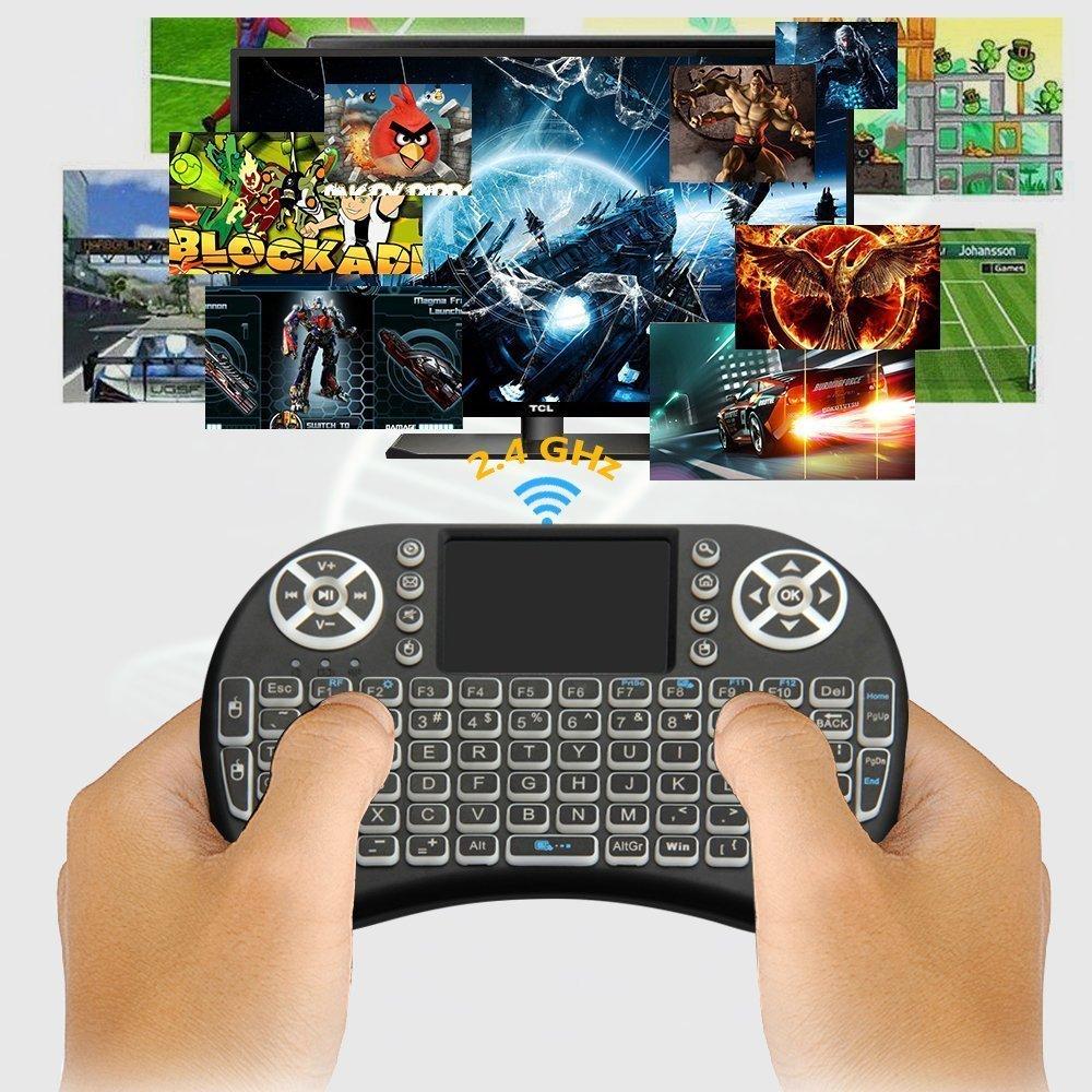 mini wireless remote keyboard mouse for samsung lg smart tv android kodi tv box 5081950181440 ebay. Black Bedroom Furniture Sets. Home Design Ideas