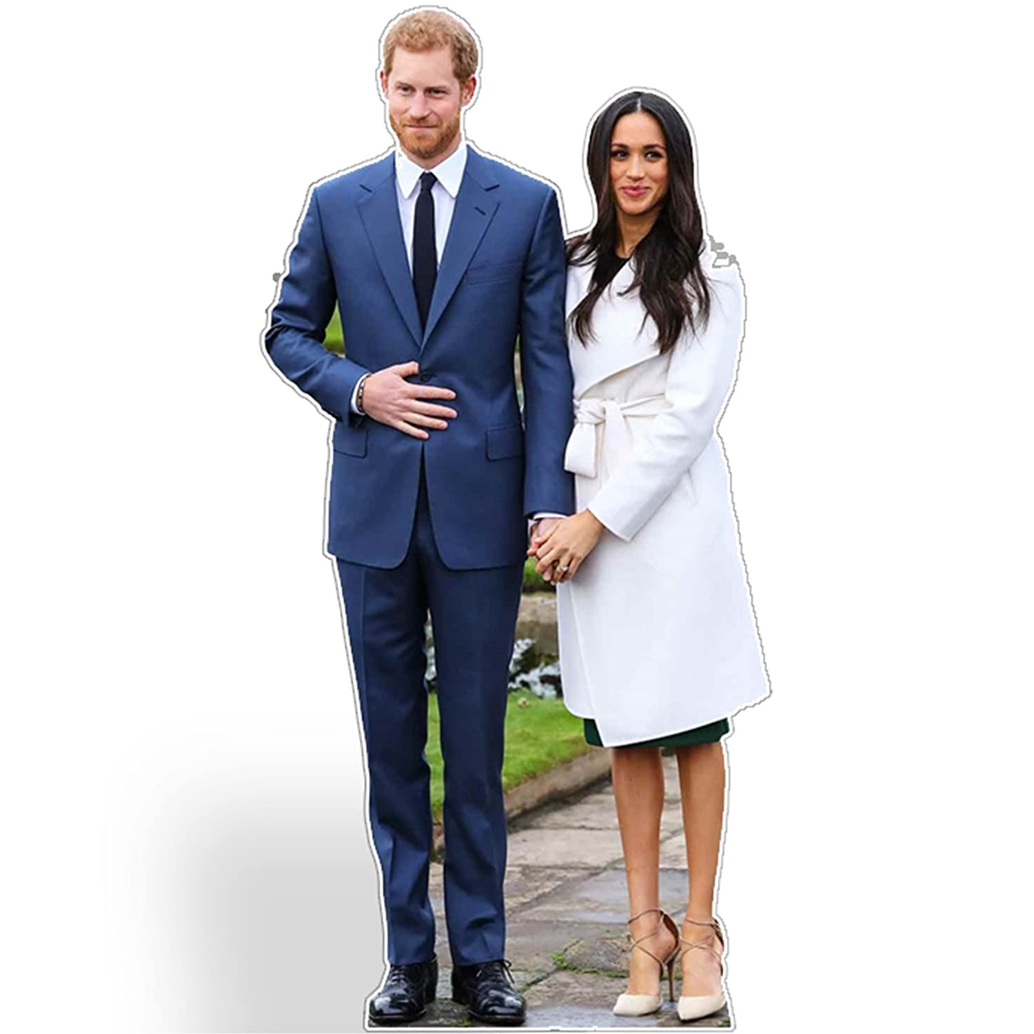 Star Cutouts sagoma di bordo mini Cut out of Prince Harry e Meghan Markle, cartone,, 186 x 92 x 186 cm STAR CUTOUTS LTD SC1115