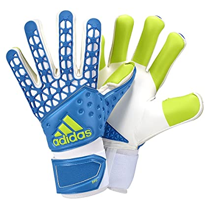 cheap for discount 21bea 778bd adidas ACE Zones Pro Goalkeeper Gloves (9) Show Blue White