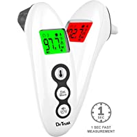 Dr Trust (USA) Clinical Digital Handy Forehead Ear Infrared Temperature Thermometers Machine for Kids, Adults - 607 (White)
