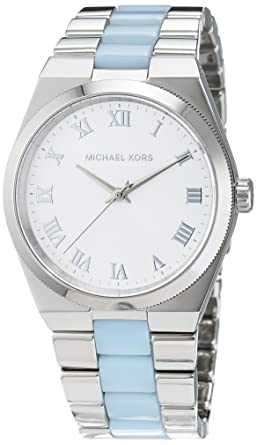 af57dd422de0 Image Unavailable. Image not available for. Color  Michael Kors MK6150  Ladies Channing Two Tone Steel Bracelet Watch