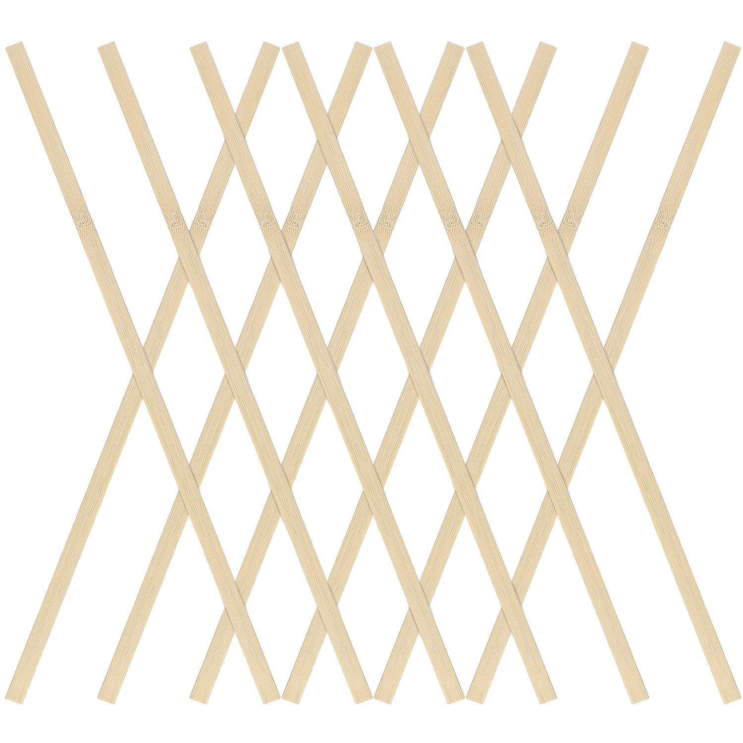 Strong Natural Bamboo Sticks 50PCS Favordrory 15.7 inches Wood Craft Sticks Natural Bamboo Sticks Extra Long Sticks Can be Curved