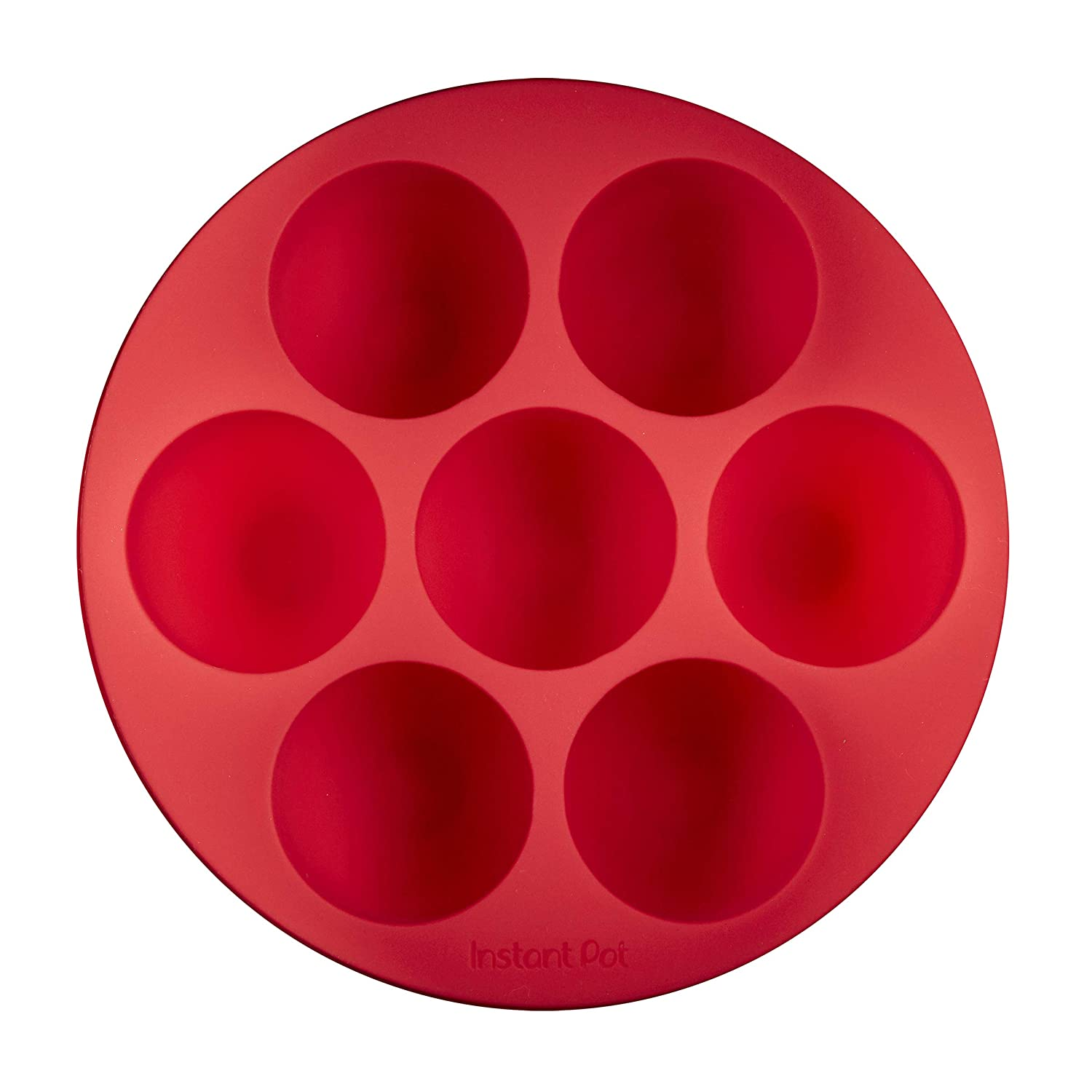 Instant Pot 5252242 Official Silicone Egg Bites Pan with Lid, Compatible with 6-quart and 8-quart cookers, Red