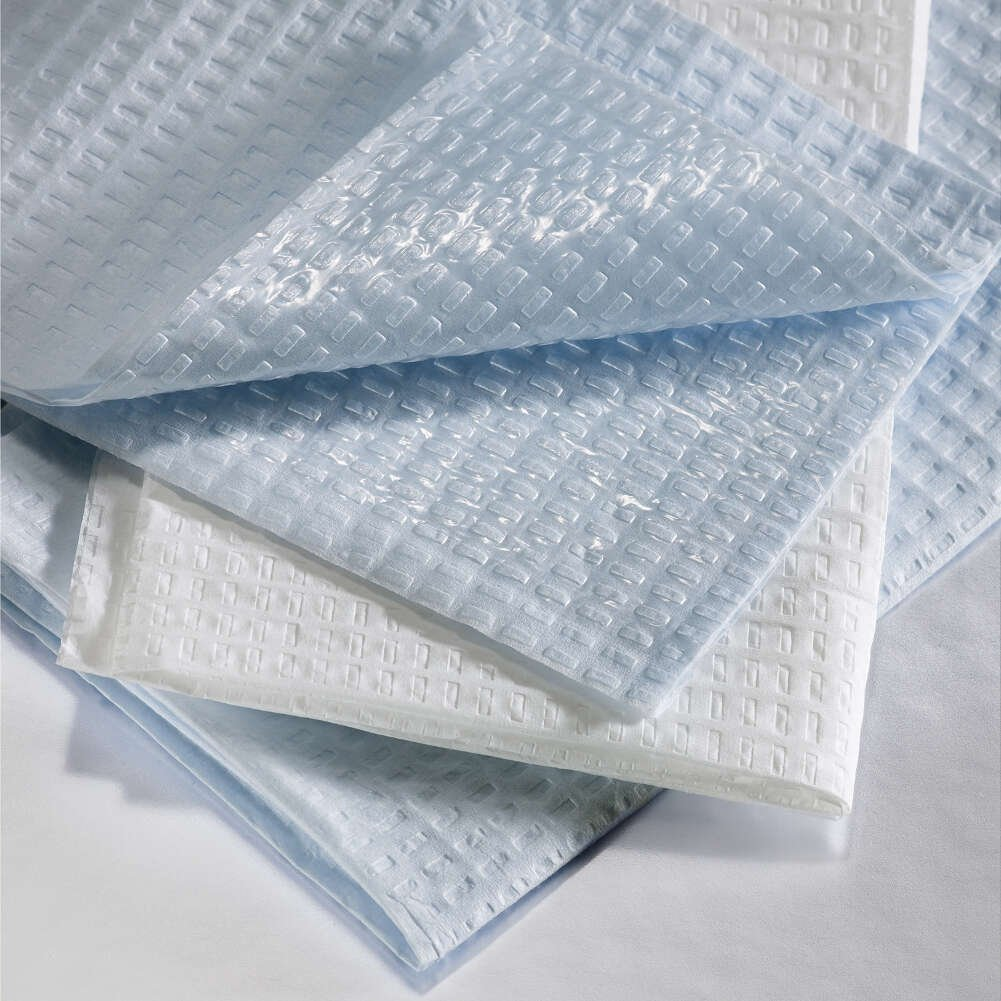 Graham Medical Towel, Disposable, Paper, 2-Ply Tissue/Poly, 13.5 Inch x 18 Inch, Blue, 184 (Case of 500)