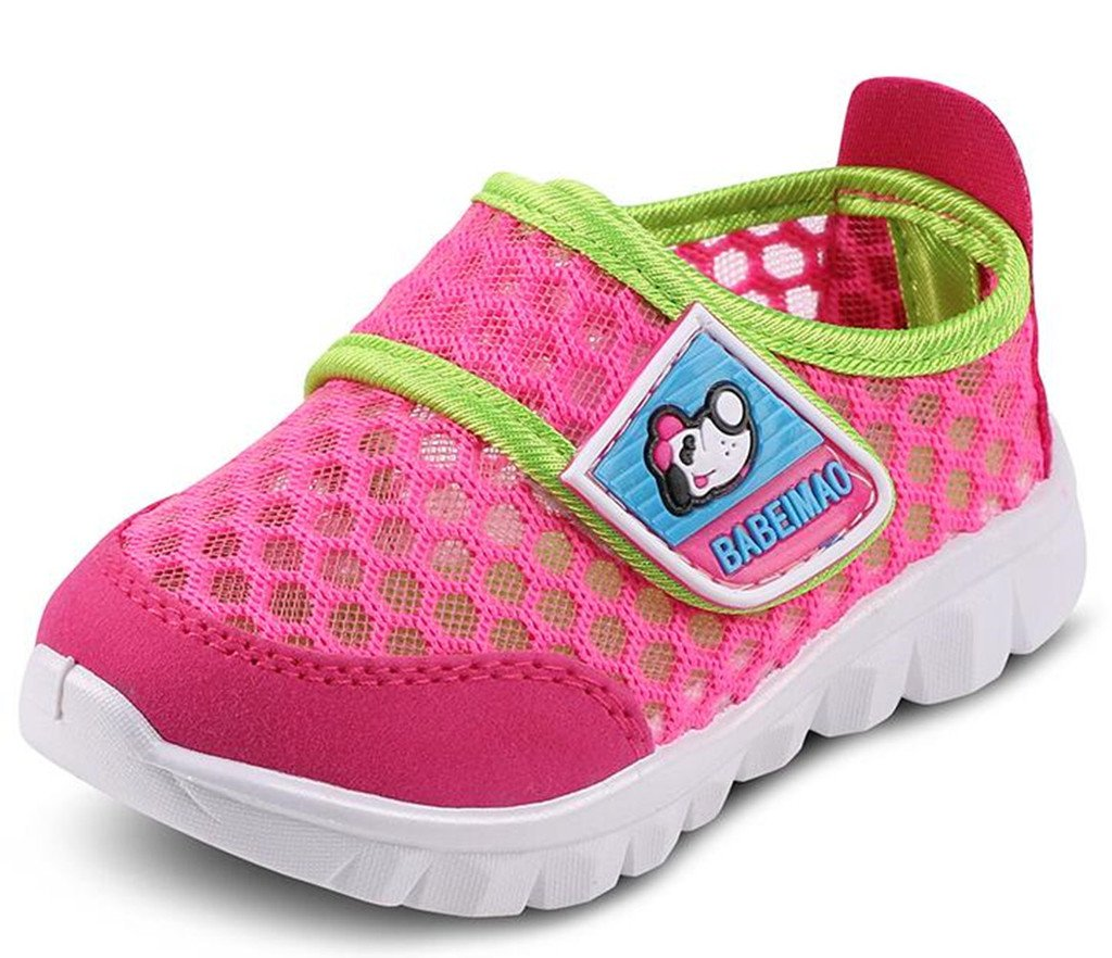 DADAWEN Baby's Boy's Girl's Mesh Light Weight Sneakers Running Shoe Rose Red US Size 8.5 M Toddler