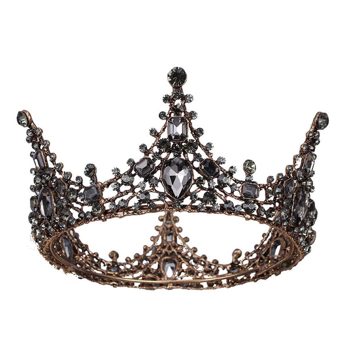 Crystal Crown, Crown Headwear Wedding Luxury Wedding Accessories Drill Round Crown Retro Hair Accessories