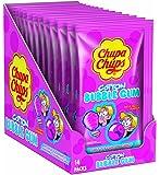 Chupa Chups Cotton Bubble Gum Tutti Frutti I Zuckerwatte-Kaugummi mit Fruchtgeschmack I Überraschender Kauspaß in der Vorratspackung I 14 x 11 g Packungen