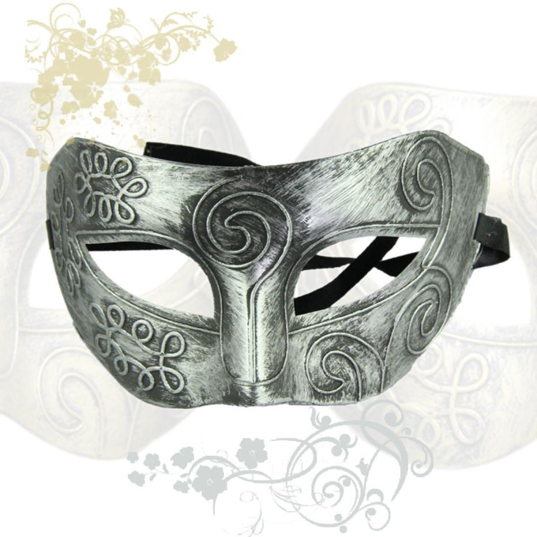 Plata Amlaiworld Retro del Fiesta de Halloween del Gladiador Romano M/áscara Facial de la Mascarada
