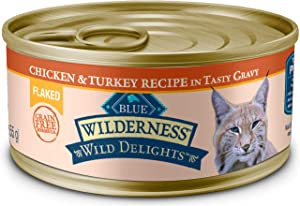 Blue Buffalo Wilderness Wild Delights High Protein Grain Free, Natural Adult Flaked Wet Cat Food
