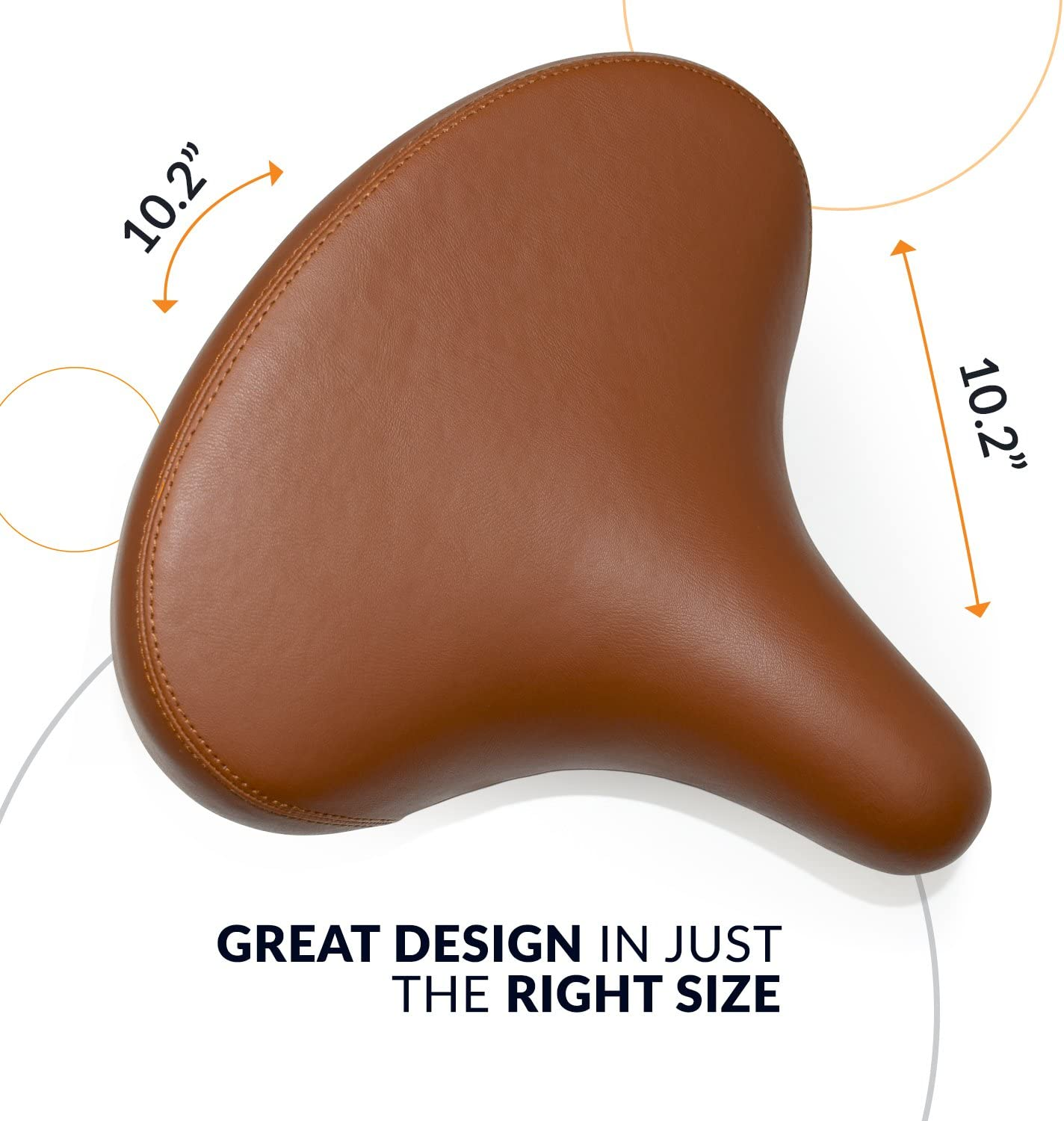 Great Replacement Bike Saddle with Padding for Women and Men Bikeroo Most Comfortable Cruiser Bike Saddle Extra Wide Bicycle Seat