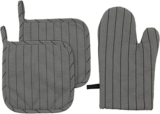 KitchenAid set of 2 100/% cotton oven mitts spring colors