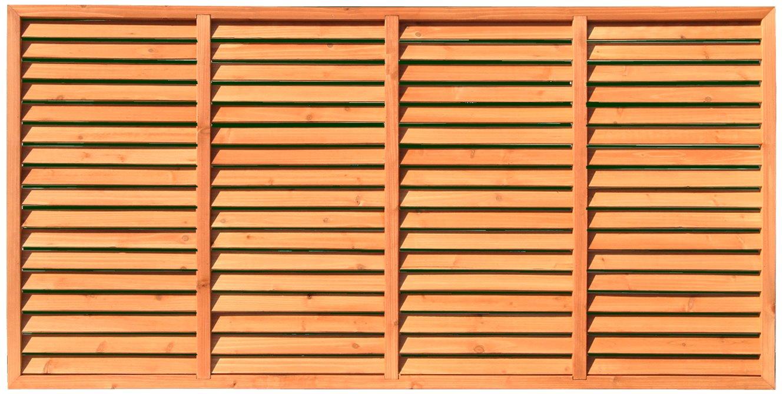 天然木製 目隠しブラインド ルーバーラティスフェンス 180×90cm 4枚セット ライトブラウン BLL-1890 B0083RX7UM 180cm×90cm (4枚セット)  180cm×90cm (4枚セット)