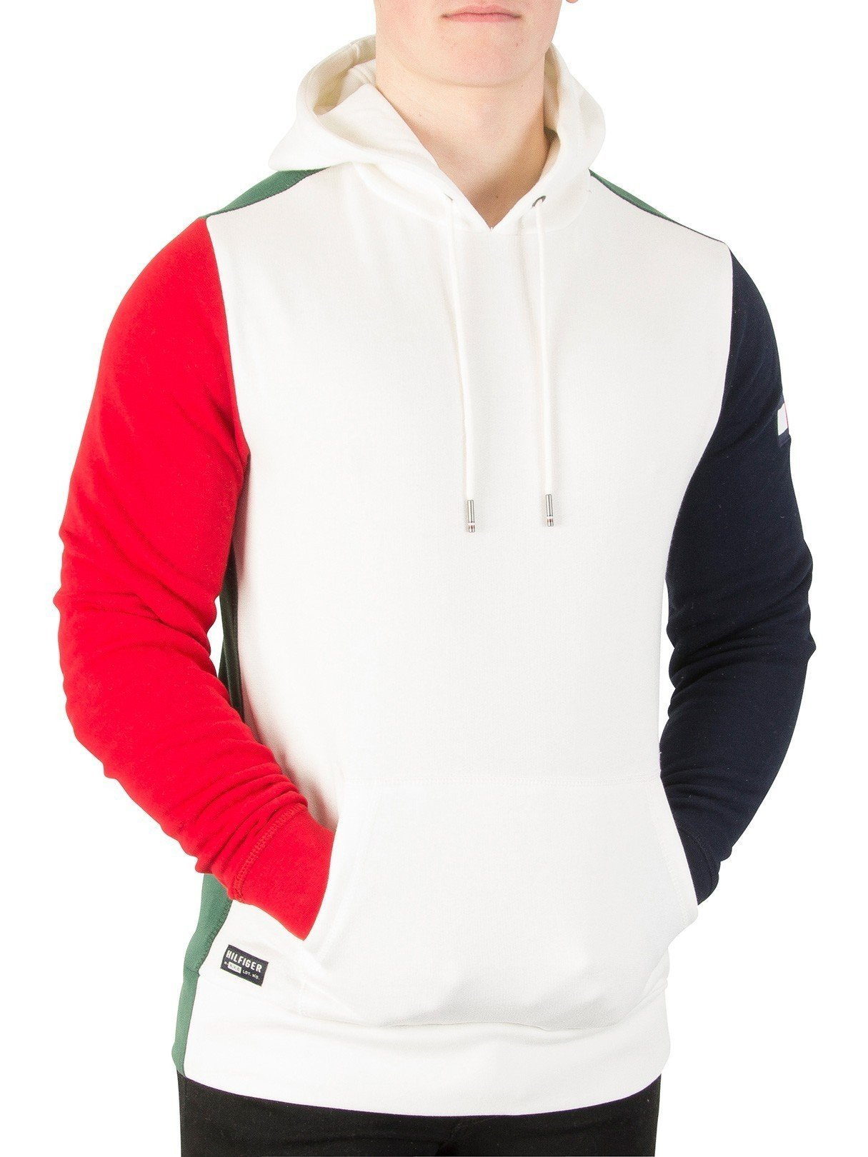 Tommy Hilfiger Men's Rock Blocking Hoodie, White, XX-Large