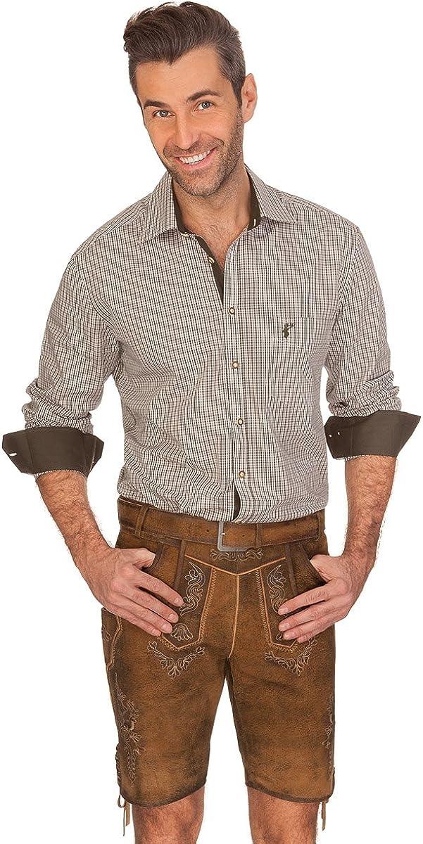 orbis Textil Trachtenhemd mit Langem Arm Loden Franz