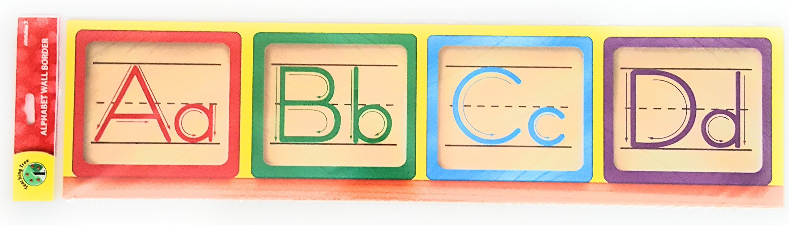 Teaching Tree Manuscript Alphabet Bulletin Back to School Board Creative Strips School Office Resources Scholastic Teacher Teacher's Bulletin Trim Wall Border Decal Classroom Decoration Blocks