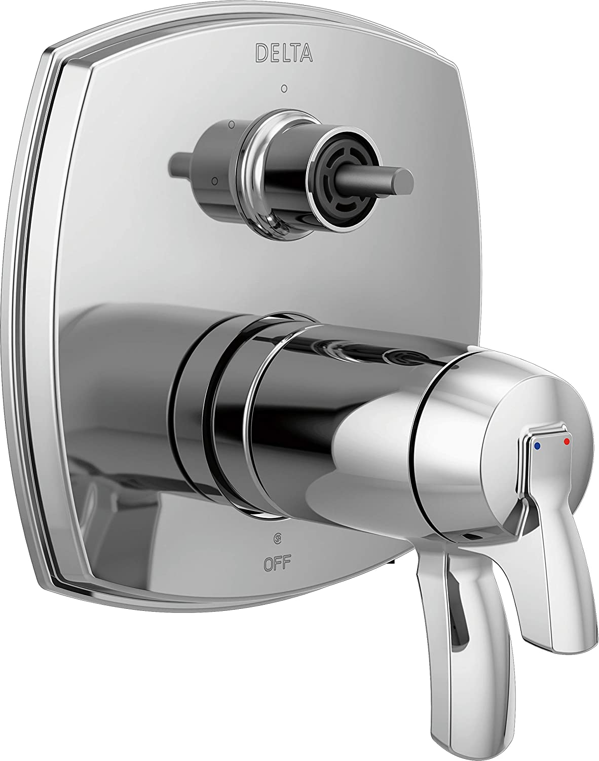 Delta Faucet T27T876-LHP 17 Thermostatic Integrated Three Function Less Handle Shower Trim with Diverter Chrome