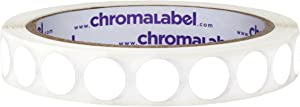 ChromaLabel 1/2 Inch Round Removable Color-Code Dot Stickers, 1000 Labels per Roll, White